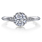 Vintage Six-Prong Milgrained Diamond Engagement Ring in Platinum by Parade | Thumbnail 02