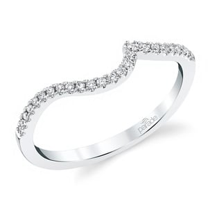 Wrapping Style Matching Diamond Wedding Ring in White Gold by Parade