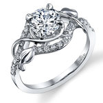 Wrapping Vine Diamond Engagement Ring in White Gold by Parade | Thumbnail 01