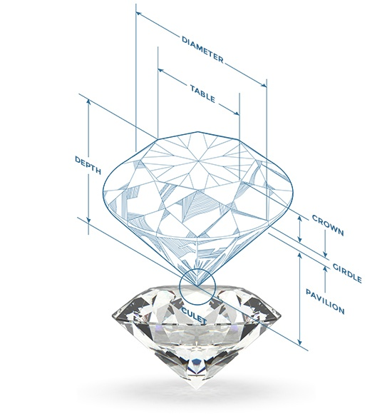diamond cut clarity anatomy chart glossary