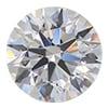 Round Bezel Platinum Diamond Stud Earrings