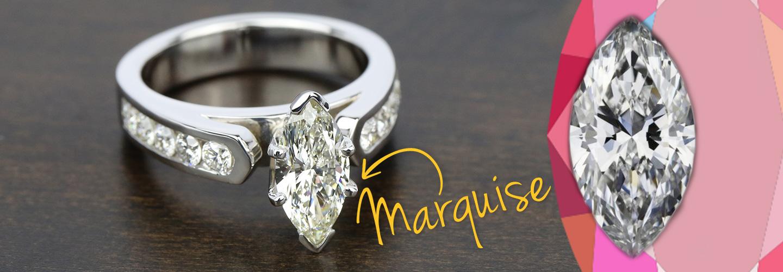 Diamond Shape: Marquise Cut
