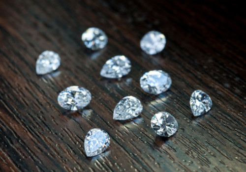diamonds on wooden background