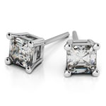 Asscher Diamond Stud Earrings in Platinum (1 1/2 ctw) | Thumbnail 01
