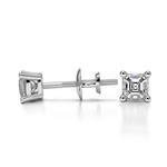 Asscher Diamond Stud Earrings in Platinum (1/4 ctw) | Thumbnail 01