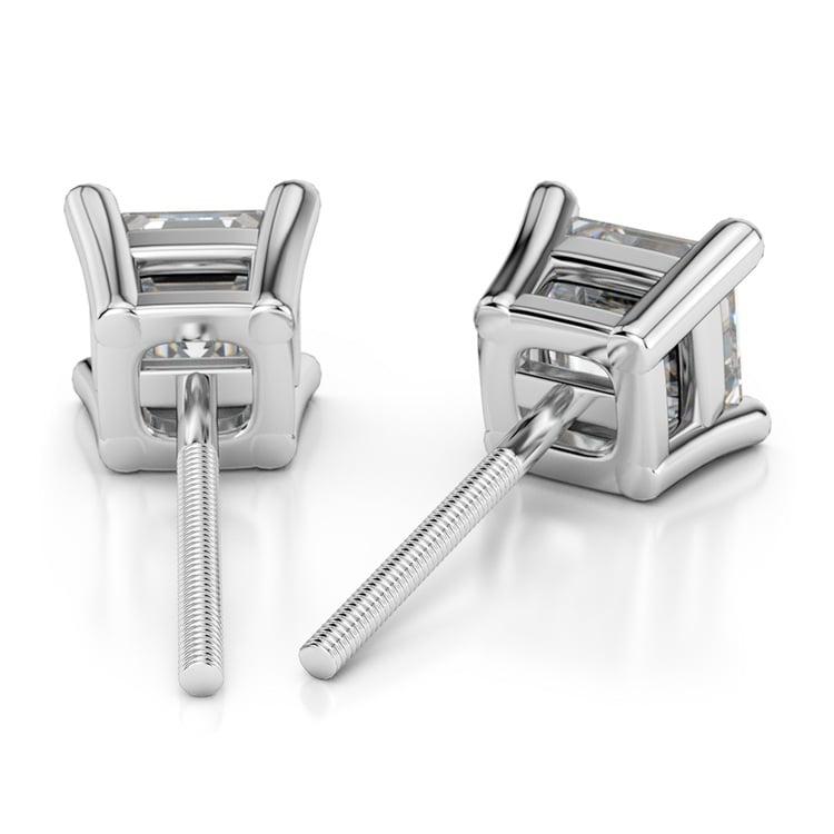 Asscher Diamond Stud Earrings in Platinum (2 ctw) | 02