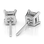 Asscher Diamond Stud Earrings in White Gold (1/4 ctw) | Thumbnail 01