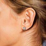 Asscher Diamond Stud Earrings in White Gold (3 ctw)   Thumbnail 01