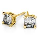 Asscher Diamond Stud Earrings in Yellow Gold (1/3 ctw) | Thumbnail 01