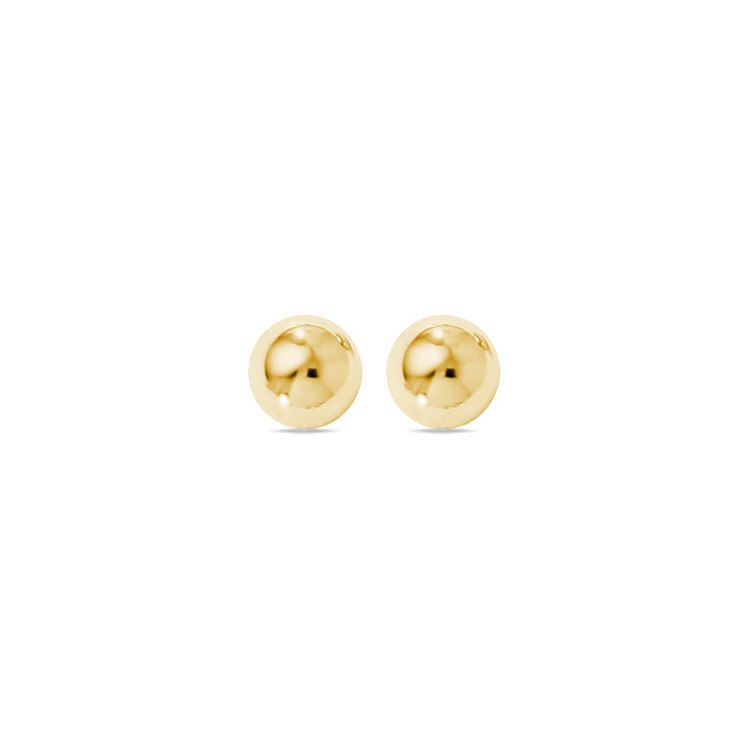 Ball Stud Earrings in Yellow Gold (6 mm) | 01