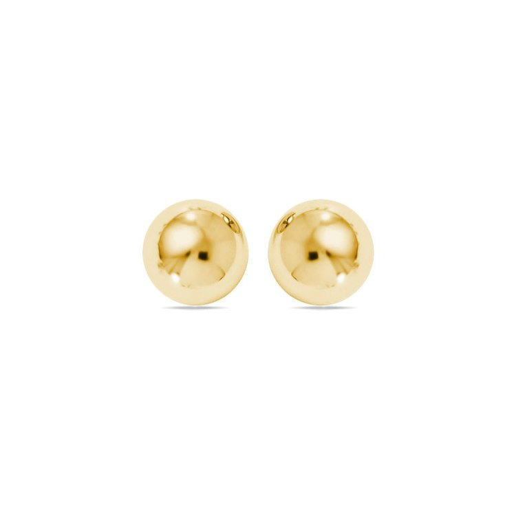 Ball Stud Earrings in Yellow Gold (8 mm) | 01