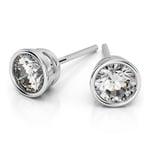 Bezel Diamond Stud Earrings in Platinum (1/4 ctw) | Thumbnail 01