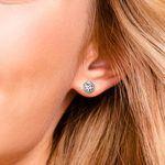 Bezel Diamond Stud Earrings in Platinum (2 ctw)   Thumbnail 01