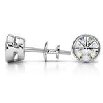 Bezel Diamond Stud Earrings in Platinum (3 ctw) | Thumbnail 01