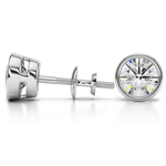 Bezel Diamond Stud Earrings in Platinum (4 ctw) | Thumbnail 01