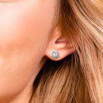 Bezel Diamond Stud Earrings in 14K White Gold (3 ctw)   Thumbnail 01