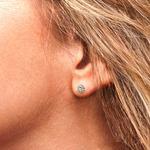 Bezel Diamond Stud Earrings in 14K Yellow Gold (1 ctw) | Thumbnail 01
