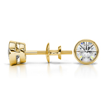 Bezel Diamond Stud Earrings in 14K Yellow Gold (3/4 ctw) | Thumbnail 01