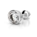 Single Bezel Earring Setting in Platinum | Thumbnail 01