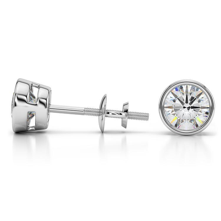 Bezel Earring Settings in Platinum | 03