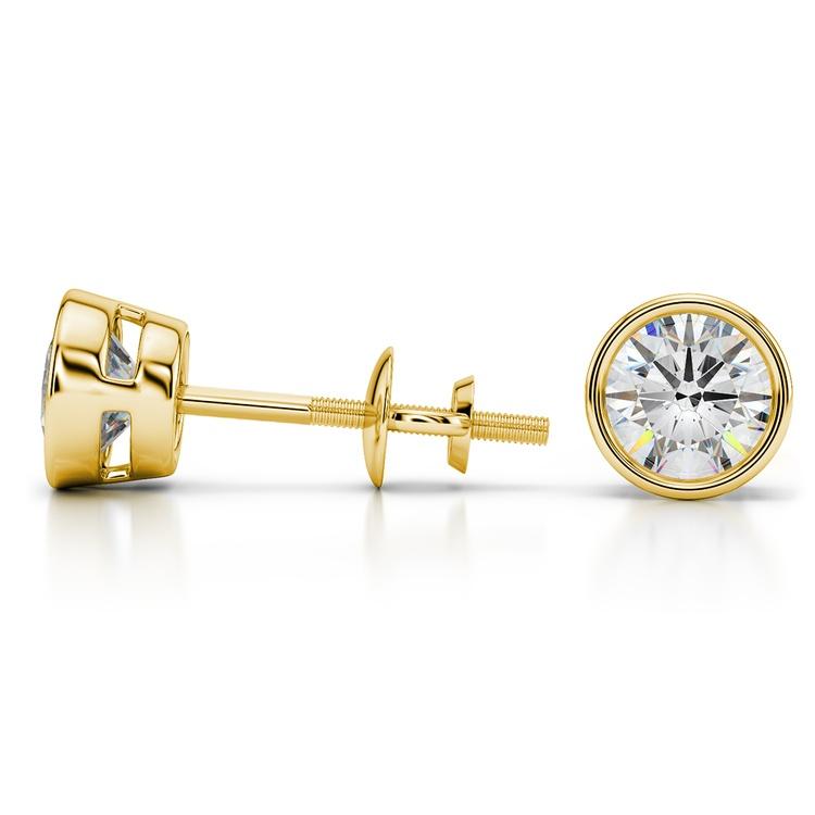 Bezel Earring Settings in Yellow Gold | 03