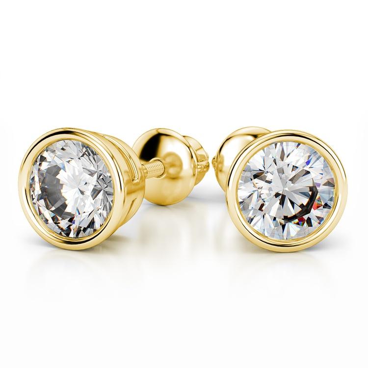 Bezel Earring Settings in Yellow Gold | 04
