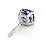 Blue Sapphire Round Gemstone Single Stud Earring In White Gold (5.1 mm) | Thumbnail 01