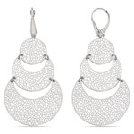 Cascading Bubble Filigree Dangle Earrings in White Gold | Thumbnail 01