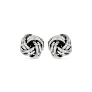 Classic Silver Love Knot Stud Earrings
