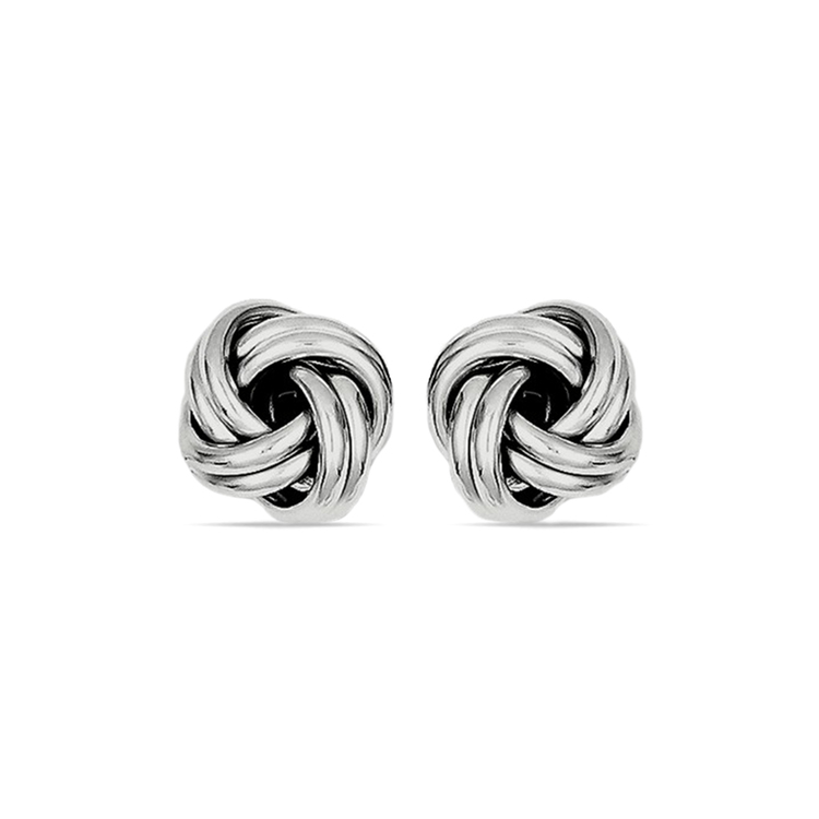 Classic Silver Love Knot Stud Earrings | 01