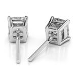 Cushion Diamond Stud Earrings in Platinum (1/2 ctw) | Thumbnail 01