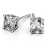 Cushion Diamond Stud Earrings in Platinum (4 ctw) | Thumbnail 01