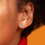 Cushion Diamond Stud Earrings in White Gold (1 1/2 ctw)   Thumbnail 01