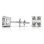 Cushion Diamond Stud Earrings in White Gold (4 ctw) | Thumbnail 01