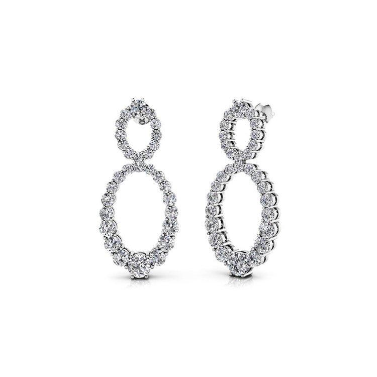 Diamond Infinity Earrings in White Gold   01