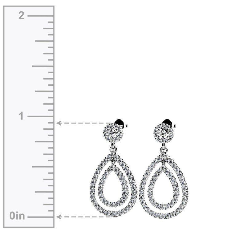 Diamond Link Earrings in White Gold   02