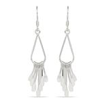 Fancy Fringe Dangle Earrings in Silver | Thumbnail 01