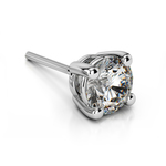 Single Four Prong Earring Setting (Round) in Platinum | Thumbnail 01