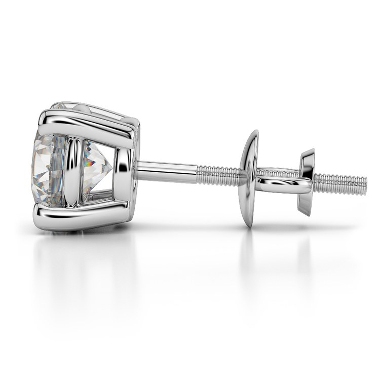 Single Earring Setting in White Gold | 03