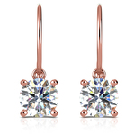French Wire Drop Earring Settings with Diamond Basket in Rose Gold | Thumbnail 01