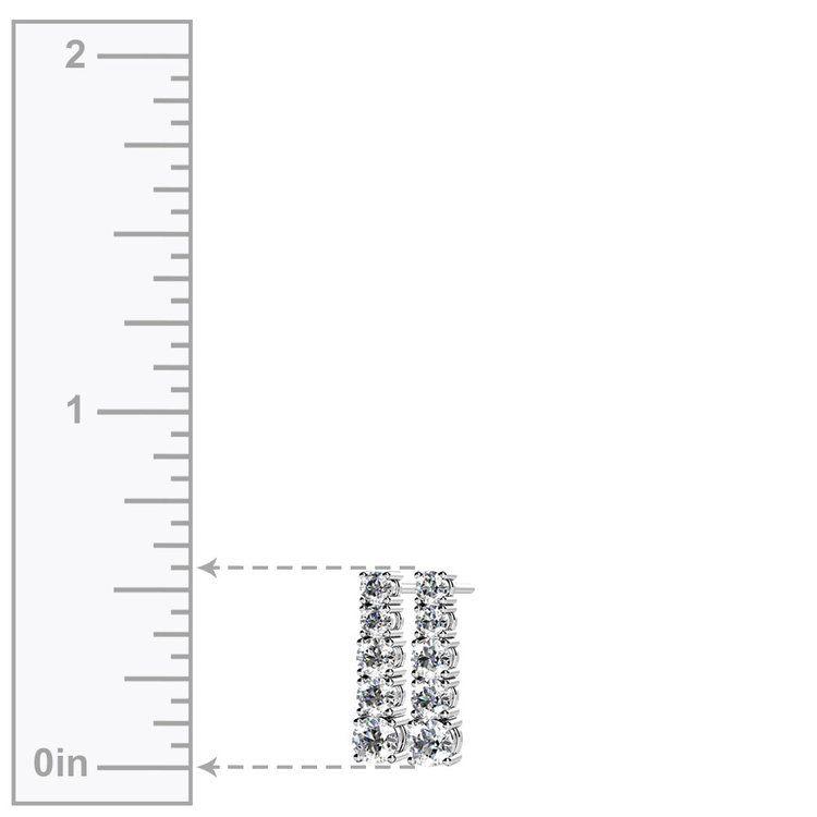 Graduated Diamond Dangle Earrings in White Gold (1/2 ctw) | 02