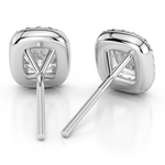 Halo Cushion Diamond Earrings in White Gold (2 ctw) | Thumbnail 01