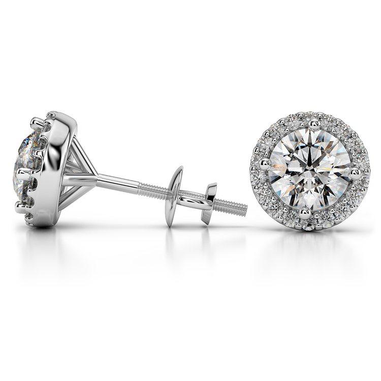 Halo Diamond Earring Settings in Platinum | 03