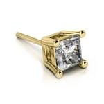 Princess Diamond Single Stud Earring In Yellow Gold (1 1/2 Ctw)   Thumbnail 01