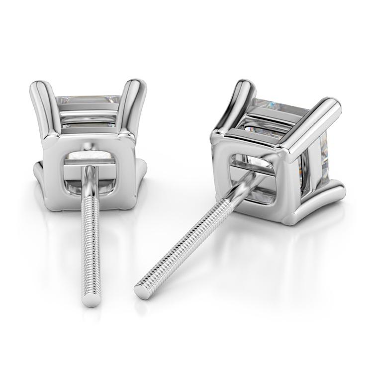 Princess Diamond Stud Earrings in Platinum (1/3 ctw) | 02