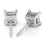Princess Diamond Stud Earrings in Platinum (4 ctw) | Thumbnail 01