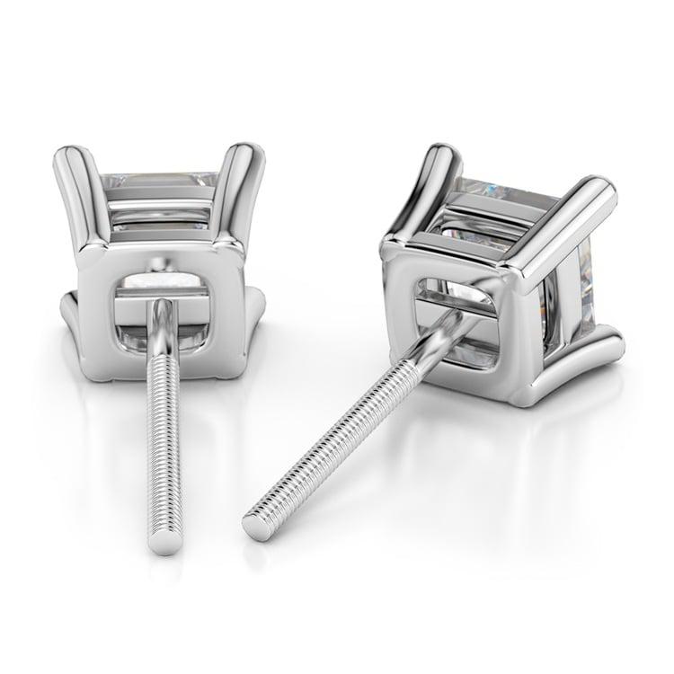 Princess Diamond Stud Earrings in Platinum (1 1/2 ctw) - Value Collection | 02