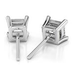 Princess Diamond Stud Earrings in White Gold (3/4 ctw) - Value Collection | Thumbnail 01