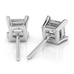 Princess Diamond Stud Earrings in Platinum (4 ctw) - Value Collection | Thumbnail 01