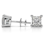 Princess Diamond Stud Earrings in White Gold (4 ctw) - Value Collection | Thumbnail 01